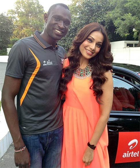 David Rudisha and Bipasha Basu