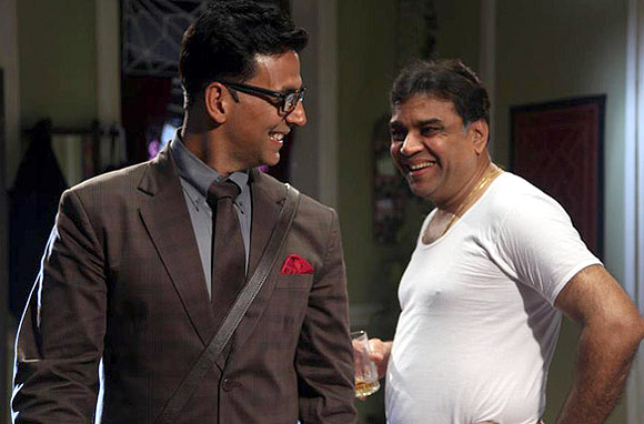 Akshay Kumar and Paresh Rawal in OMG Oh My God