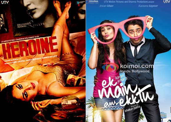 Movie posters of Heroine and Ek Main Aur Ekk Tu