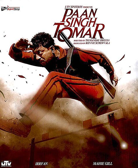 Movie poster of Paan Singh Tomar