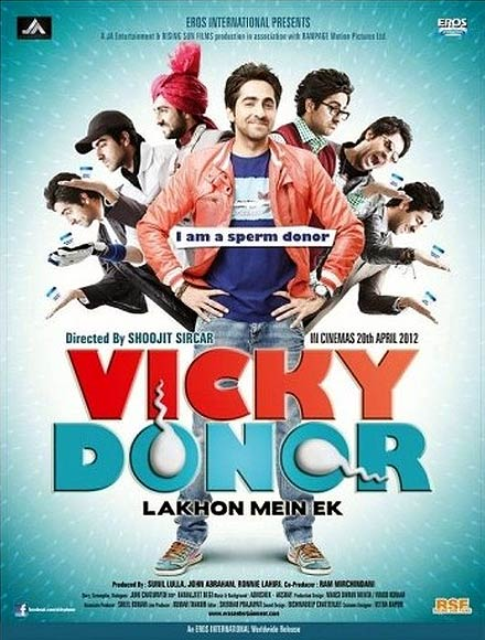 Movie poster of Vicky Donor