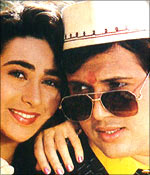Anil Kapoor and Madhuri Dixit in the Dhak Dhak song