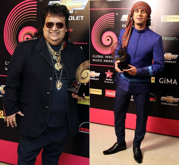 Bappi Lahiri and Sonu Nigam