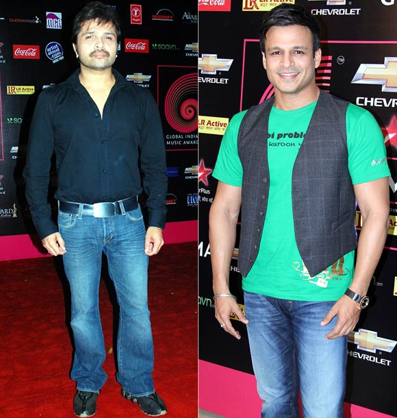 Himesh Reshammiya and Vivek Oberoi