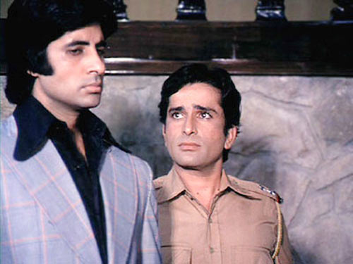 Amitabh Bachchan and Shashi Kapoor in Deewar