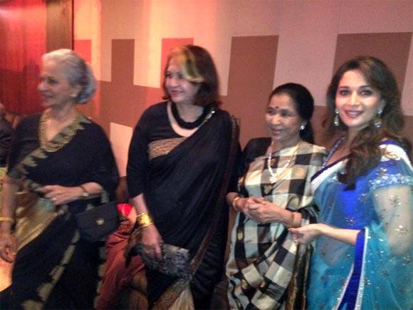 Waheeda Rahman, Helen, Asha Bhosle and Madhuri Dixit