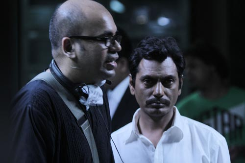 Suparn Verma and Nawazuddin Siddiqui on the sets of Aatma