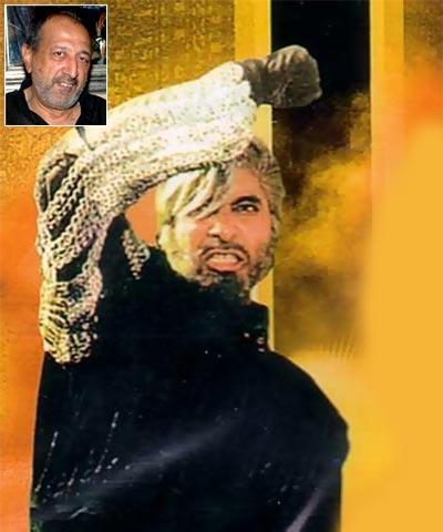 Amitabh Bachchan in Shahenshah. Inset: Tinnu Anand