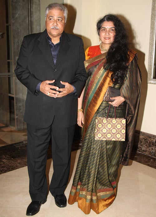 Satish Shah with wife