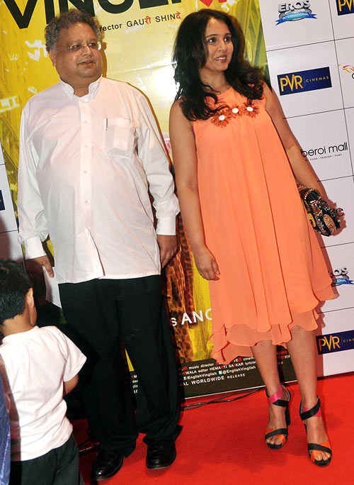 Rakesh Jhunjhunwala and Suchitra Krishnamurthy
