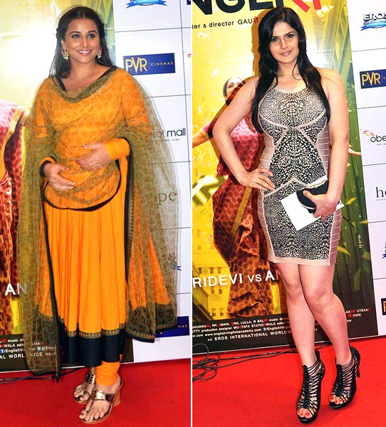 Vidya Balan and Zarine Khan