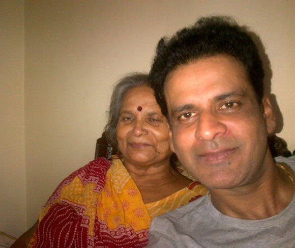 Manoj Bajpayee with his mother