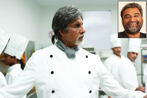 Amitabh Bachchan in Cheeni Kum. Inset: R Balki