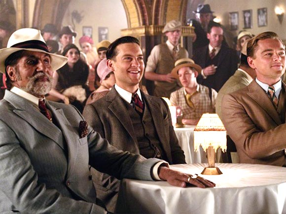 Amitabh Bachchan, Tobey Maguire and Leonardo DiCaprio in The Great Gatsby