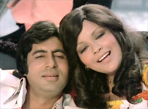 Amitabh Bachchan and Zeenat Aman in The Great Gambler