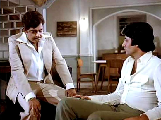 Shatrughan Sinha and Amitabh Bachchan in Dostana