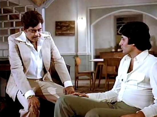 Shatrughan Sinha and Amitabh Bachchan in Dostana