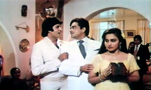 Amitabh Bachchan, Shatrughan Sinha and Reena Roy in Naseeb