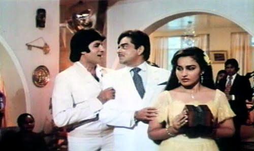 Amitabh Bachchan, Shatrughan Sinha and Reena Roy in Naseeb