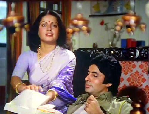 Raakhi and Amitabh Bachchan in Barsaat Ki Ek Raat