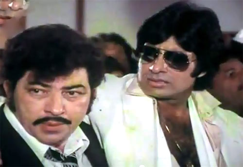 Amjad Khan and Amitabh Bachchan in Yaarana