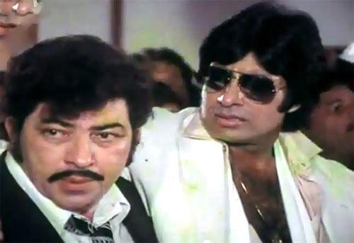 Amjad Khan and Amitabh Bachchan in Yaarana