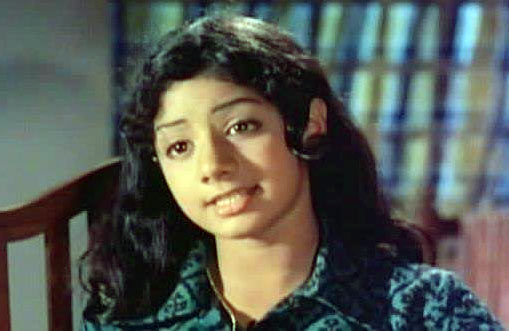 Sridevi made her adult debut in Hindi films with the 1975 musical hit Julie.