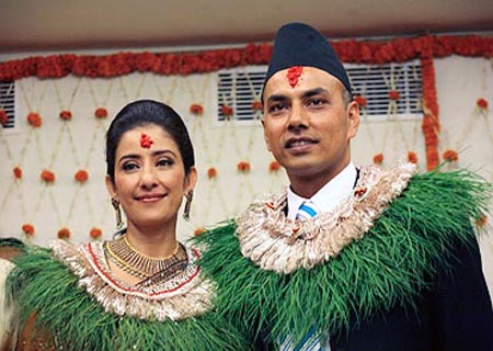 Manisha Koirala and former husband Samrat Dahal