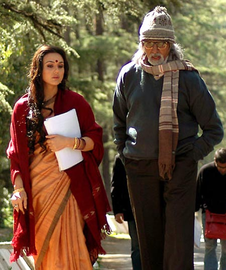 Preity Zinta and Amitabh Bachchan in The Last Lear