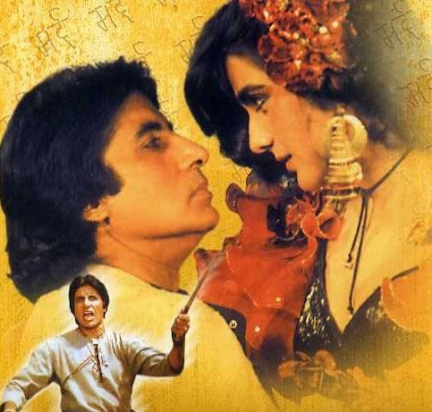 Amitabh Bachchan and Amrita Singh in Mard