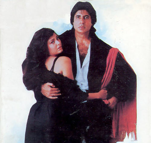 Kimi Katkar and Amitabh Bachchan in Hum