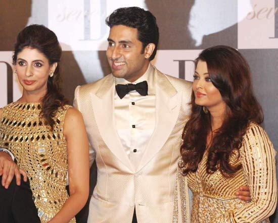 Shweta, Abhishek and Aishwarya