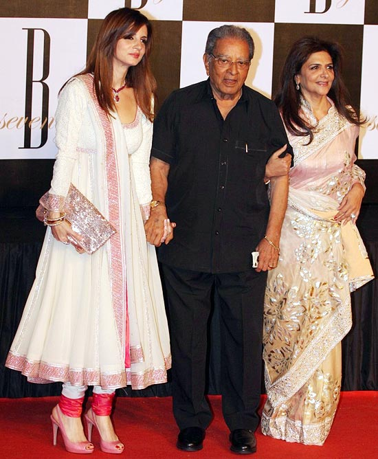 Sussanne and Pinky Roshan with J Om Prakash
