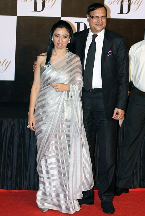 Rajat Sharma with wife Ritu Dhawan