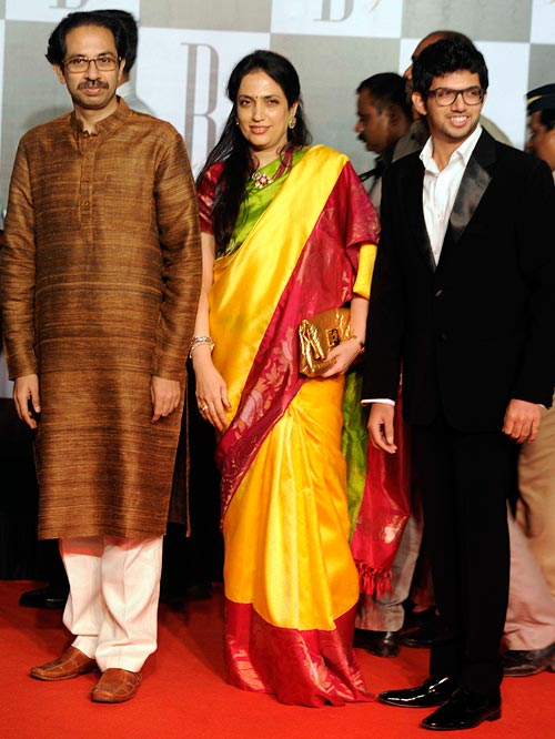 Uddhav, Rashmi and Aditya Thackeray