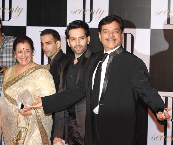 Shatrughan and Poonam Sinha with sons Luv and Kush