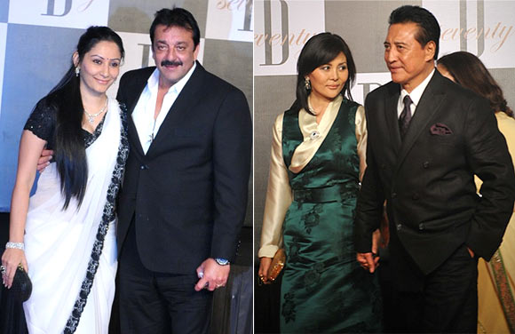Maanyata and Sanjay Dutt, Danny and Gawa Denzongpa