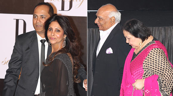 Vipul and Shefali Shah, Yash and Pamela Chopra