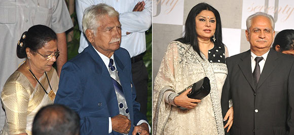 Seema and Ramesh Deo, Ramesh Sippy and Kiran Juneja