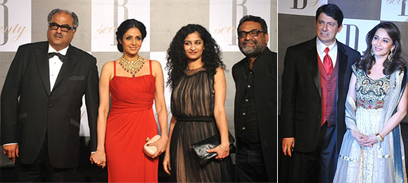 Boney Kapoor, Sridevi, Gauri Shinde, R Balki, Madhuri Dixit and Sriram Nene