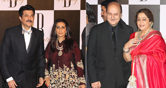 Anil and Sunita Kapoor, Anupam and Kirron Kher