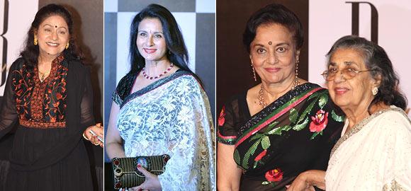Aruna Irani, Poonam Dhillon, Asha Parekh and Shammi