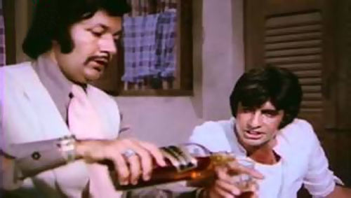 Prem Chopra and Amitabh Bachchan