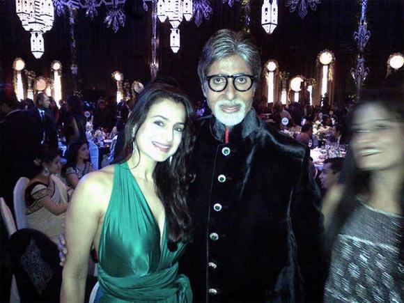Ameesha Patel and Amitabh Bachchan