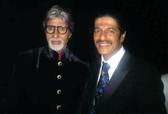 Amitabh Bachchan and Chunkey Panday