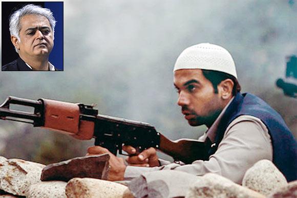 A scene from Shahid. Inset: Hansal Mehta