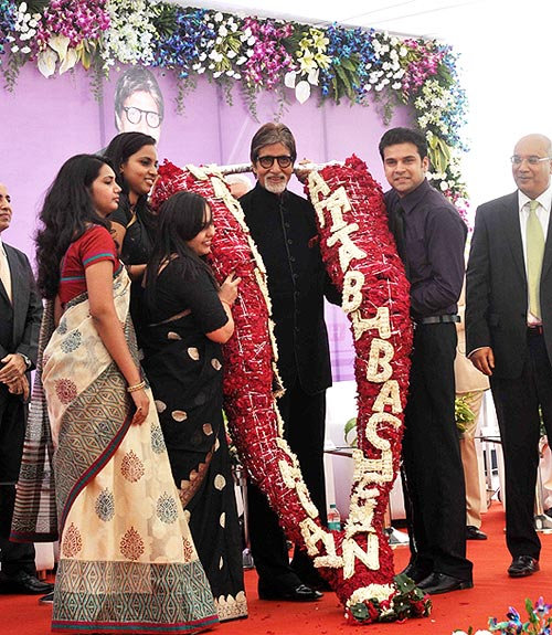 Amitabh Bachchan at the Seven Hills hospital