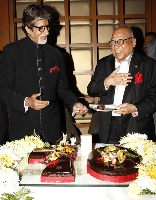 Amitabh Bachchan and Captain C P Krishnan Nair