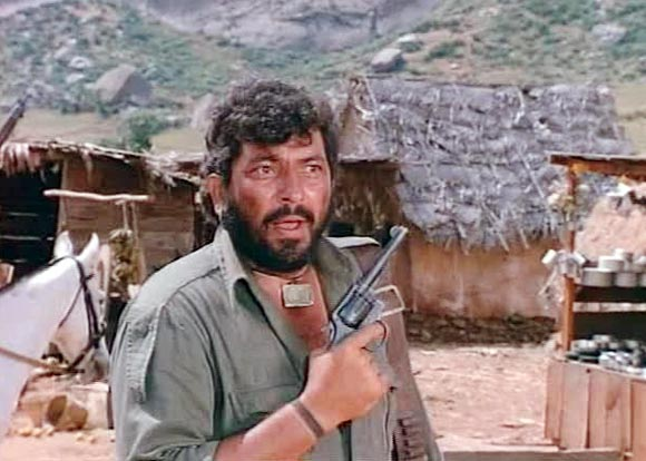 Amjad Khan in Sholay