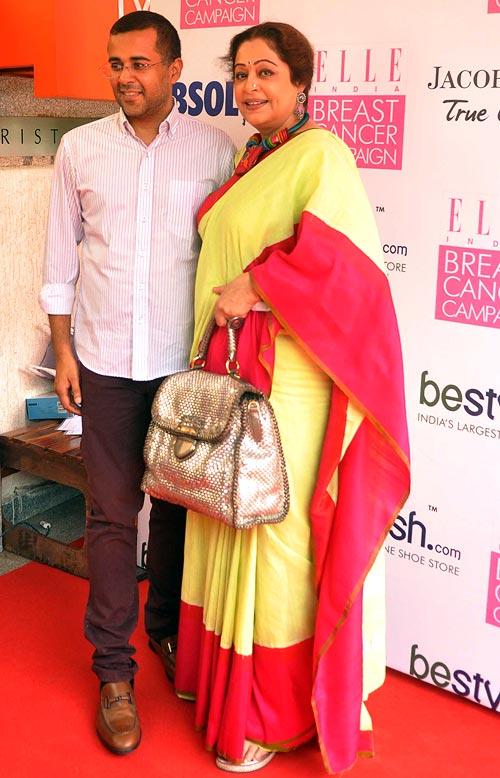 Chetan Bhagat and Kirron Kher